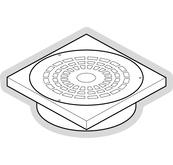 Cadre avec grille pour boîte de branchement