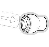 Rotule 15° assainissement